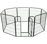 "Pawhut 24"" 8 Panel Heavy Duty Pet Dog Portable Exercise Playpen front-95293"