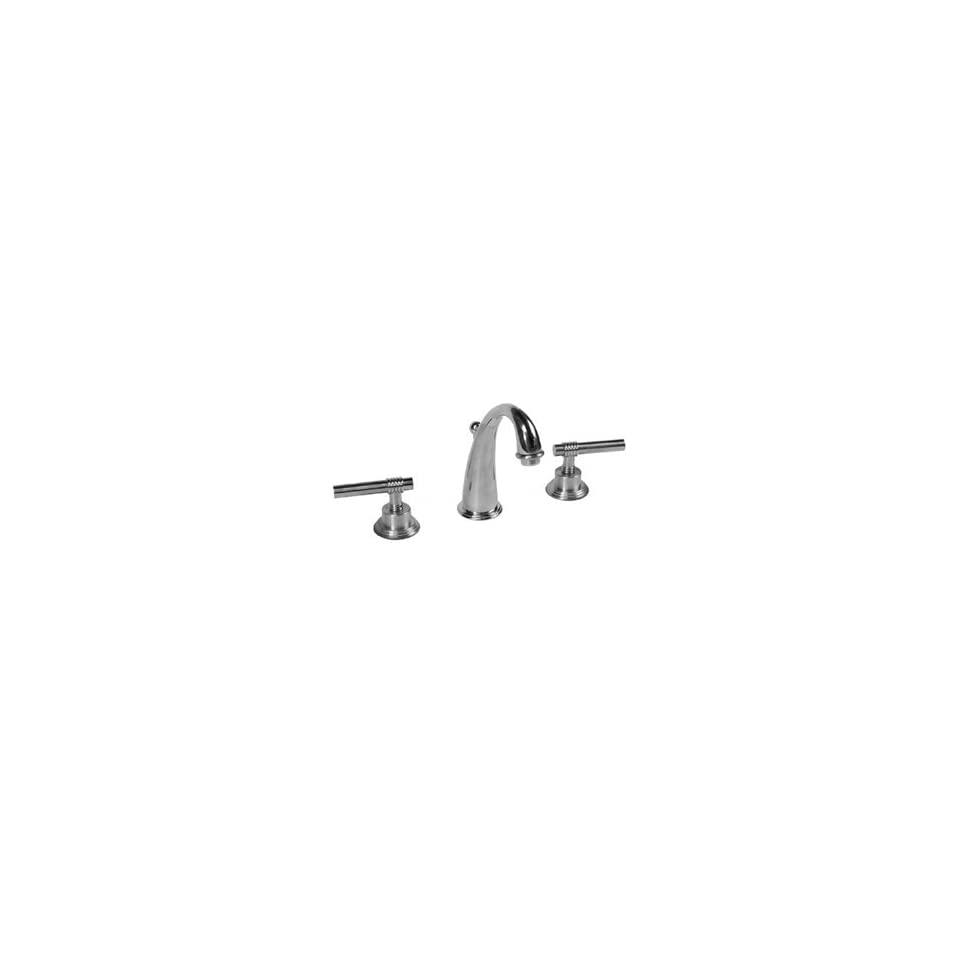 Legacy Brass 3001 Satin Chrome/Polished Brass Bathroom Sink Faucets 8 Lever Lav Faucet