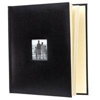 "Flashpoint Photo Album, Leatherette Collection, Holds 500 4x6"" Photos, 5 Per Page. Color: Black. (Set Of 3 Total 1500 Photos)"