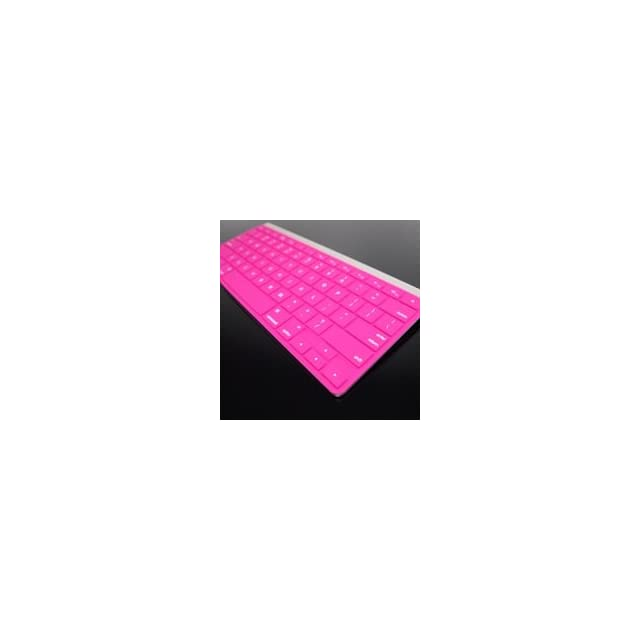 TopCase Silicone Keyboard Cover Skin for Apple Wireless Keyboard with TopCase Mouse Pad (Apple Wireless Keyboard, SOLID PINK) (Not for Apple Magic Keyboard)