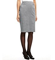 M&S Collection Double Jet Pockets Luxury Tonic Skirt with New Wool