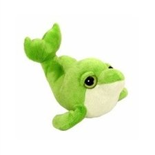 "Wild Republic Cool Beans 6"" Green Dolphin Plush Stuffed Animal"