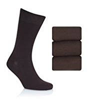 3 Pairs of Collezione Assorted Socks with Silk