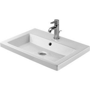 Duravit 03476000001 Vanity Basin 60 cm 2nd floor White with of with tp 1th WonderGliss