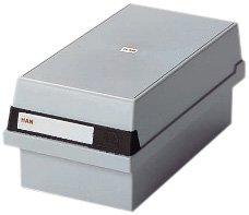 Han 966-11 - Contenitore per schede archivio, capacità: 800 schede, formato A6, in plastica, colore: grigio chiaro