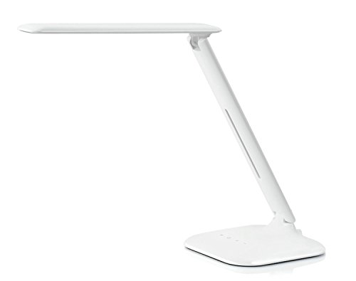 Bliss - Small Natural Light Led Eye-Protection Multi-Function Desk Lamp, 3 Lighting Modes- Studying, Reading And Relaxation / Bedtime, 5- Level Brightness Control For Each Mode, Includes Usb Wall Charger