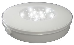 Light Base, Led, Battery Operated, White And Multi-Color, 6 In. Diam.