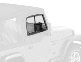 Bestop 51787-35 Black Diamond Upper Door Slider Set For 97-06 Wrangler Tj