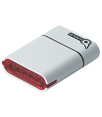 OWLEYE 1882-Super High Power 5 LED Rechargeable Li-ion Taillight White. BE SAFE - BE SEEN !