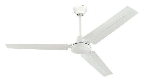 Westinghouse 7812700 Industrial 56-Inch Three-Blade Ceiling Fan with Ball Hanger Installation System, White