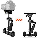 """S60 Handheld Steady cam Video Stabilizer 24""""/60CM with Quick Release Plate 1/4"""" and 3/8"""" Screw for Canon Nikon Sony DSLR Camera GoPro"""
