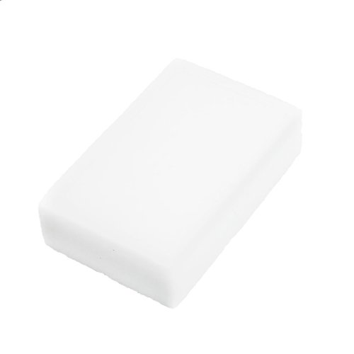 Vehicle Car Cleaning Care Tool Rectangular White Sponge Pad