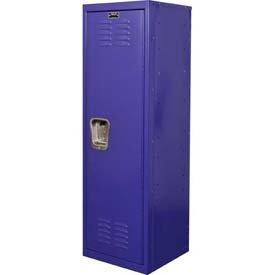 """Hallowell® Kid Locker, 15""""W X 15""""D X 48""""H, Pep Rally Purple front-61021"""