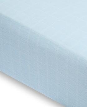 Imagen de Aden + Anais Classic Crib Sheet - Liam the Brave (Azul)