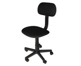 Swivel Operator Chair - Color: Black