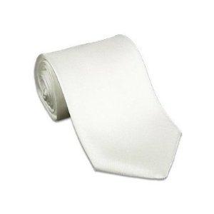 Solid WHITE tie