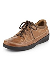 Airflex™ Comfort Leather Wide Fit Perforated Collar Lace Up Shoes