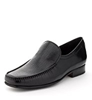 Collezione Leather Weave Design Vamp Loafers