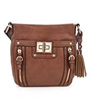 Glamour Turn Lock Cross Body Bag