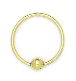 14k Yellow Gold 16 Gauge Circular Body Piercing