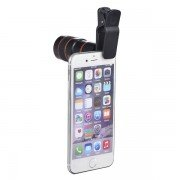 New Universal 8x Zoom Mobile Phone Telescope Clip Lens for iPhone 5 5s 6 6 Plus Cell Phone Optical Lens Magnifier
