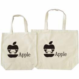磯野家 Apple エコバッグ L プリント色 ブラック