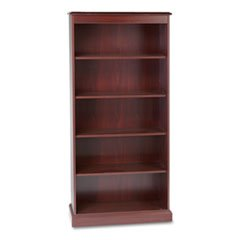 -- 94000 Series Five-Shelf Bookcase, 35-3/4w x 14-5/16d x 78-1/4h, Mahogany