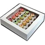 Mini Cupcake Box - White - Holds 24 Mini Cupcakes