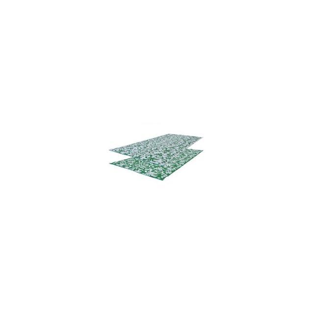 RV Patio Mat 9x12 Flower Pattern (Green/White) Mat