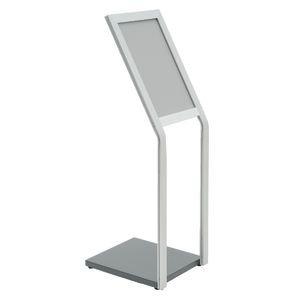 angled floor stand sign holder 11 x 17 industrial scientific. Black Bedroom Furniture Sets. Home Design Ideas