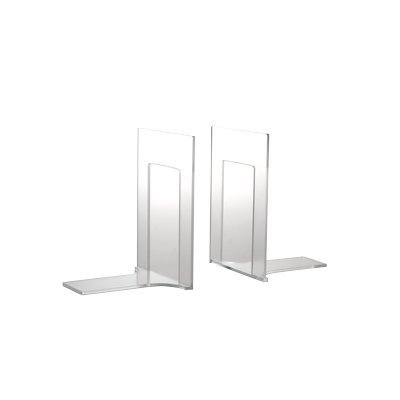 Tecnostyl ACR003 Reggilibri Acrylic, Trasparente, Confezione 2