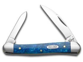 Case Cutlery 13536 Blue Sparkle Kirinite Mini Copperhead Pocketknives