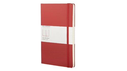 Moleskine Classic Red Notebook, Ruled Large