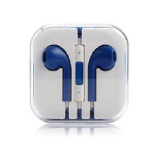 24Hb 3.5Mm Plug In-Ear Earphone With Microphone & Volume Control (Blue)