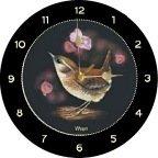 Wren Bird Welsh Slate Wall Hanging Clock