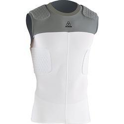 McDavid Adult Hexpad Sleeveless 5 Pad Bodyshirt - White Grey Small by McDavid