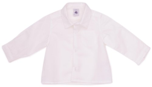 Petit Bateau - Camicia - ragazzo bianco 2 anni