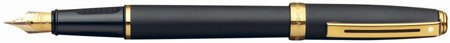 Sheaffer Prelude Black Matte /GT Broad Point Fountain Pen - SH-346-0B (Sheaffer Prelude Gt compare prices)