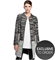 Autograph Tweed Coat with Wool