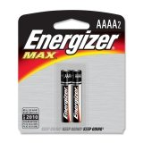 Energizer AAAA Alkaline Battery 2 Pack - E96BP2