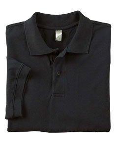 Econscious - 6.5 Oz., 100% Organic Cotton Pique Polo L, Black front-449597