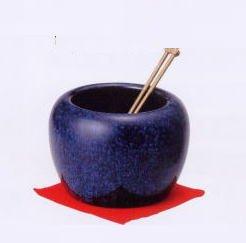 信楽焼 生子 ミニ 火鉢型 灰皿セット  6099-25