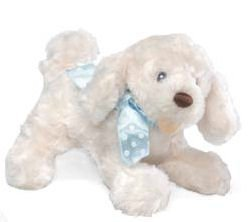 Auggie Doggie Rattle - Blue Bow
