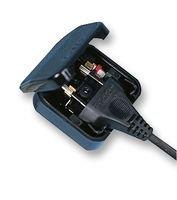 Euro 2 Pin to 3 Pin Converter Plug / Adapter – Black CP1*
