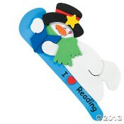 "Snowman Bookmark Craft Kit ""I Love Reading""/Craft Kits/Toys/School Supplies/Christmas"