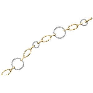 Genuine IceCarats Designer Jewelry Gift 14K Yellow White Gold 14Ky_14Kw Diamond Bracelet