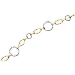 Genuine IceCarats Designer Jewelry Gift 14K Yellow White Gold 14Ky_14Kw Diamond Bracelet