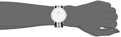 Daniel Wellington Women's 0605DW Southampton Stainless Steel Watch With Striped Nylon Band