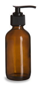 16 oz Amber Brown Plastic Lotion / Soap Dispenser Bottle with Black Pump, 2 Pack (Bottle Dispenser Plastic compare prices)