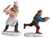 Lemax Pie Thief And Baker Set Of 2 (52064) picture